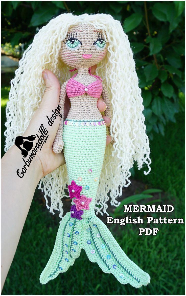 Foto-Tutorial: Wig for crochet dolls inspire by Ariel the little ... | 1169x736