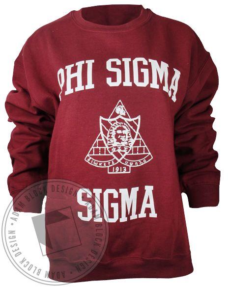 Phi Sigma Sigma Vintage Crest Sweatshirt by Adam Block Design | Custom Greek Apparel & Sorority Clothes | www.adamblockdesign.com