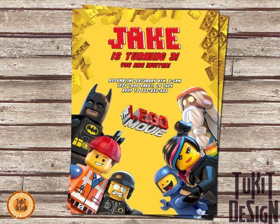 Lego The Movie Invitation for Birthday Party  by TuKitDesign, $8.00