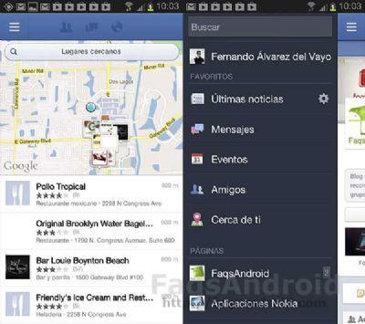 Facebook mejora las imágenes y la geolocalización para Android