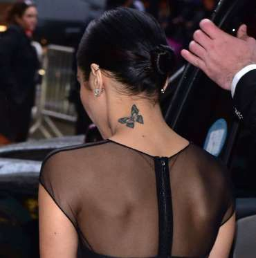 """""""Vanessa"""" is a genus of butterfly, making Vanessa Hudgens' tattoo extremely fitting. - Getty"""