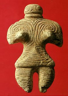 Gangu (The figure that was made with a stone).   Jomon-era. Aomori Japan. BC.1,200 - BC.800.