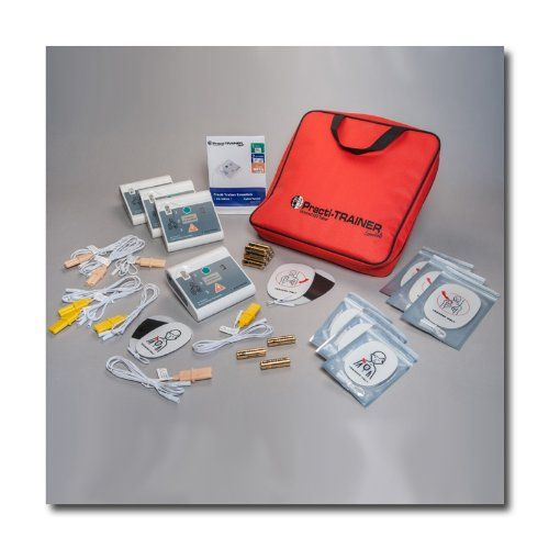 Pack of 4 AED Practi-Trainer Essentials CPR defibrillator training units, WNL# WL120ES10-4   Pack of 4 AED Practi-Trainer Essentials CPR defibrillator training units, WNL# WL120ES10-4 This trainer is an affordable option for instructors, and the replacement pads are the same economical pads as used on the original Practi-Trainer. This trainer is an affordable option for instructors, and the replacement pads are the same economical pads as used on the original. Beware of other economy..