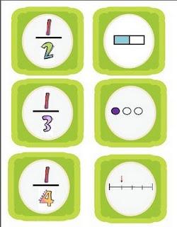 Fraction MatchClassroom Math, Schools Math, Memories Games, Fractions Memories, Fractions Concentration, Math Ideas, Fractions Freebies, Classroom Ideas, Concentration Games