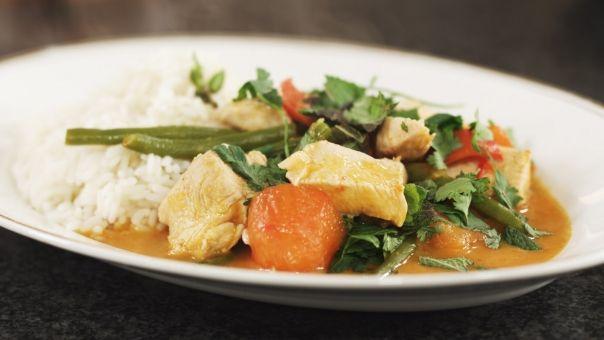 Eén - Dagelijkse kost - Thaise rode curry met kip