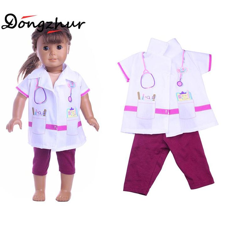 "Find More Dolls Accessories Information about 2pcs/set Mini Doctor Clothes 18"" American Girl Doll Clothes And Accessories 18 Inch American Girl Doll's Clothing ingbaby WJ1431,High Quality american girl doll clothes,China doll clothes Suppliers, Cheap american girl from 100% baby house Store on Aliexpress.com"