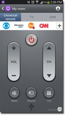 Turn your Samsung Galaxy S4 into a universal remote