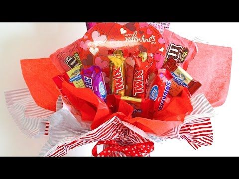 Valentines Crafts - How to Make a Chocolate Bouquet - YouTube
