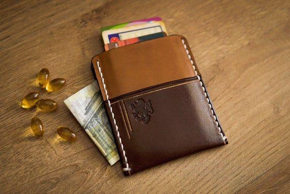 Leather card holder, Business card case, Leather wallet men, Credit card holder, Minimalist wallet,