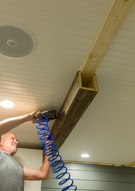 How to build faux beams