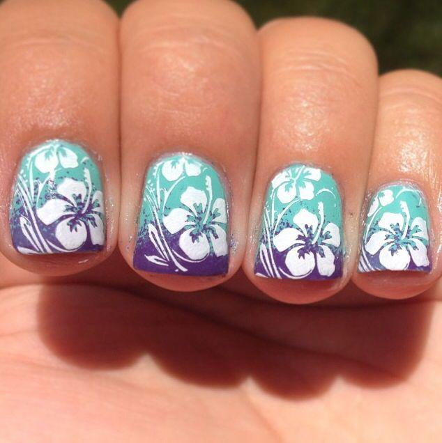 Hawaiian Flower Nail Art Picture 2015 - Reasabaidhean | Nail Art | Nail Art,  Nails, Nail designs - Hawaiian Flower Nail Art Picture 2015 - Reasabaidhean Nail Art