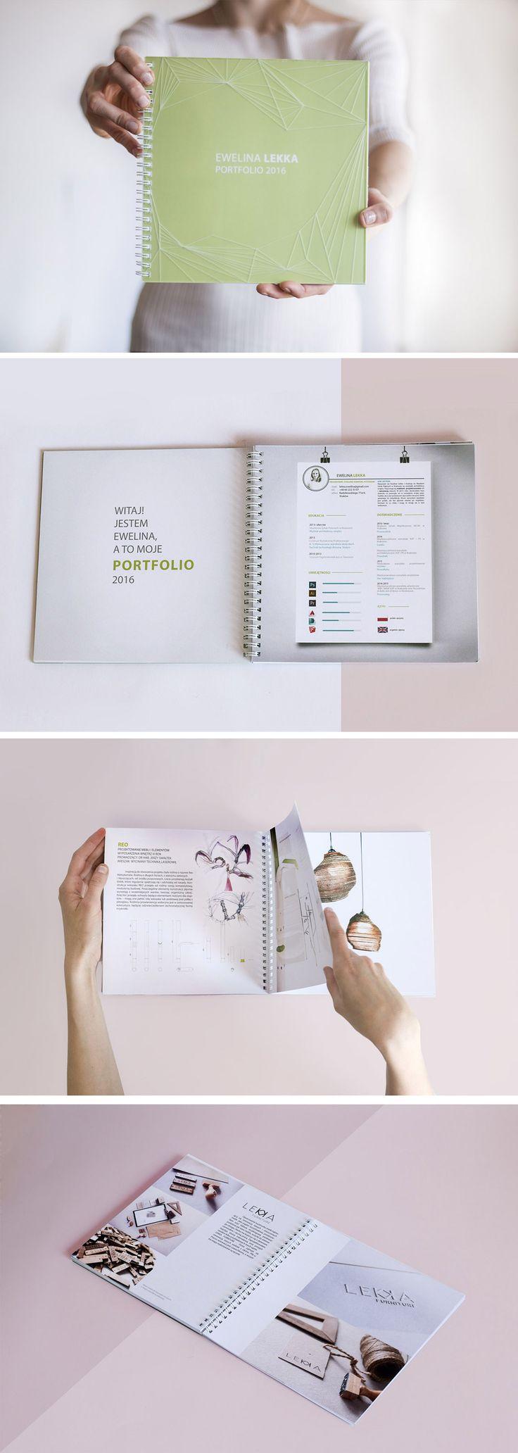 Portfolio design. Pastel colours. Lasercut, transparent cover. Laser design