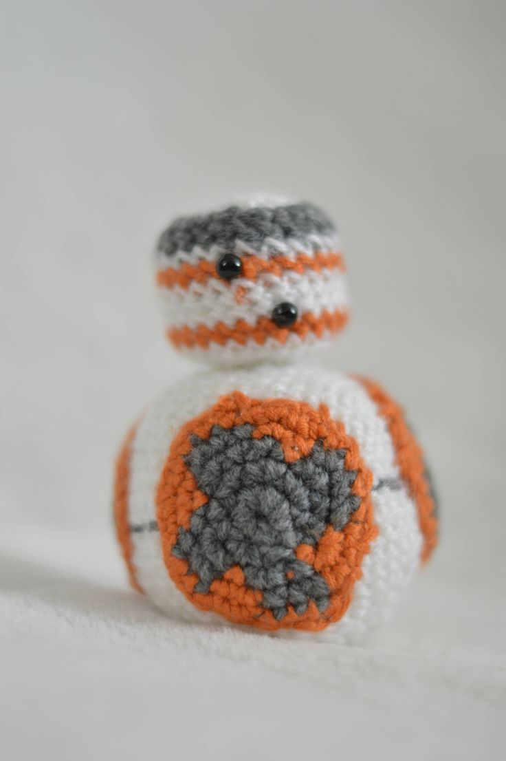 """Crochetted BB8 Doll from """"Star Wars Force Awakens"""" 