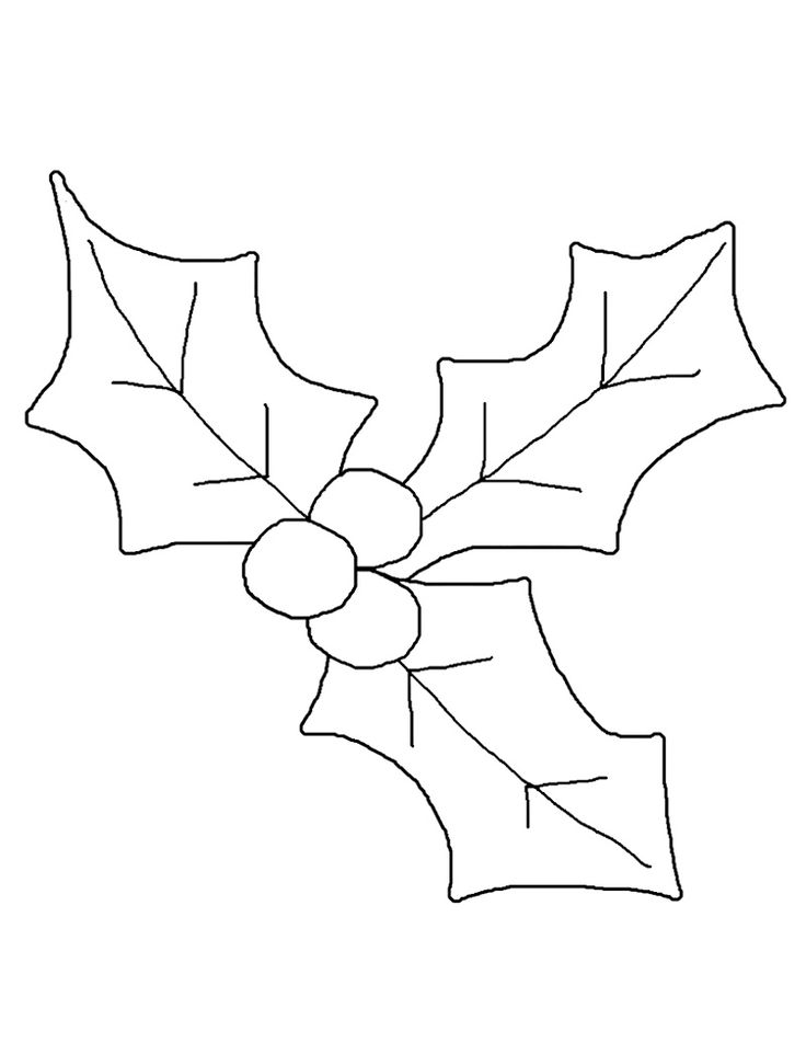 Mistletoe Coloring Pages in 2020 | Christmas applique ...