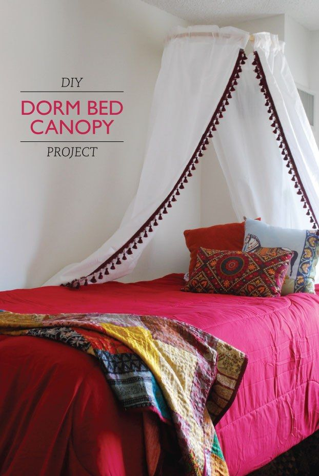 Create a DIY canopy for your bed.