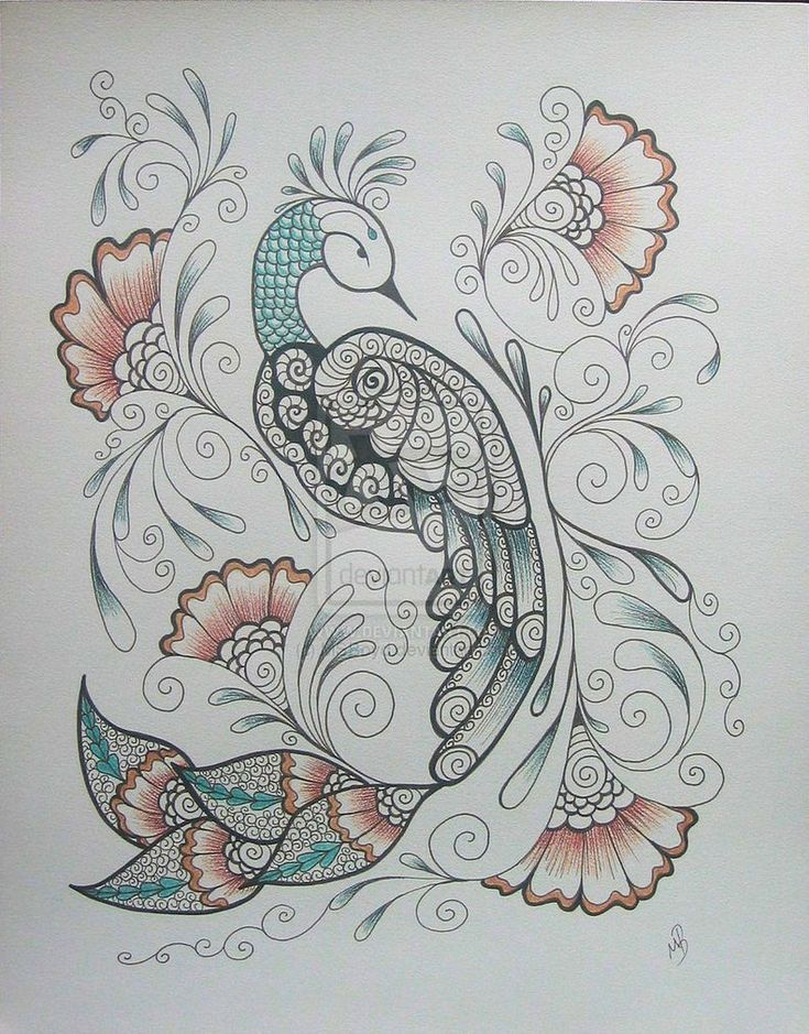 henna peacock....would love this style as a chinese pheonix