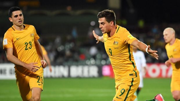 Australia's World Cup destiny remains in their own hands after a narrow 3-2 win over Saudi Arabia.