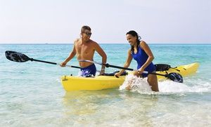 Groupon - Two-Hour Single- or Double-Kayak Rental from Huntington Harbor Boat Rentals (50% Off) in Huntington Beach. Groupon deal price: $15