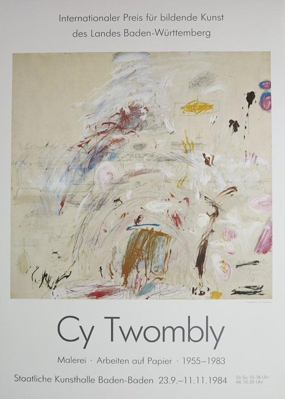 cy twombly exhibition poster - untitled - museum print - very rare ...