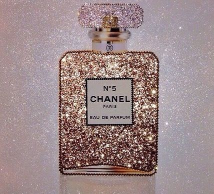 Image Of Chanel No 5 Parfum Glitter Canvas Artwork