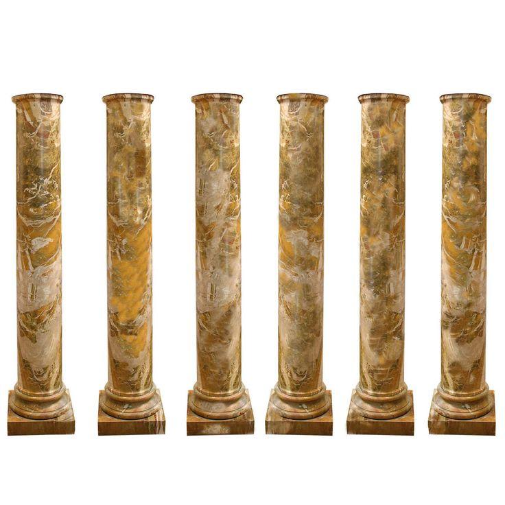 Rare set of six 18th century italian doric columns for Doric columns