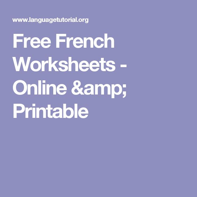 Worksheet For Grade 5 Word The  Best French Worksheets Ideas On Pinterest  French Course  Gas Laws Worksheet With Answers Word with Simplify Algebra Worksheet Word Free French Worksheets  Online  Printable Identify Literary Devices Worksheet Word