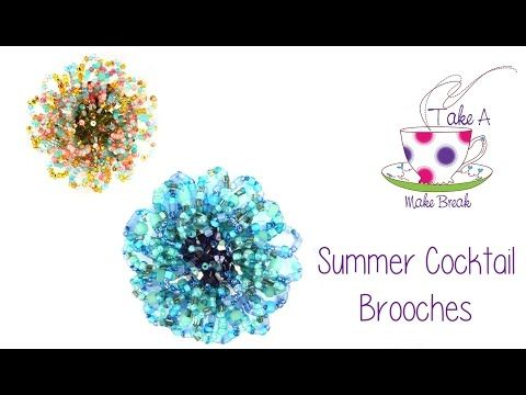 Summer Cocktail Brooches   Take A Make Break with Sarah Millsop ✿ - YouTube