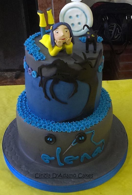 Oh, wow, my friend's name is Elena! But she doesn't like Coraline. She saw it when she was eight and it scared her. This birthday cake is a terrific idea .