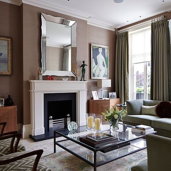 Elegant Grey And Taupe Living Room: Sage Green And Taupe Living Room