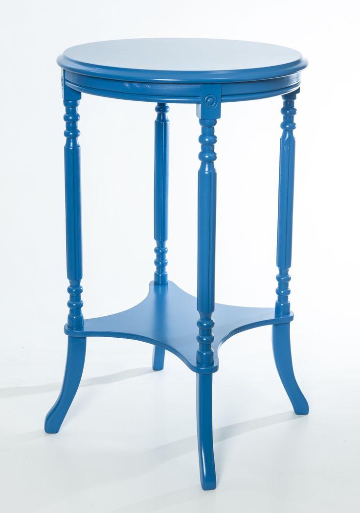 #Masa #Vintage circulara de culoare albastra