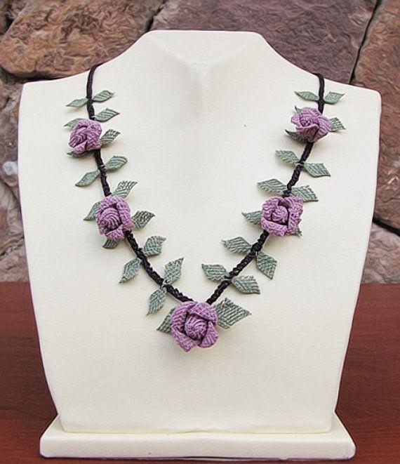 Authentic Anatolian Needle Lace Pure Silk Gul by ELITHANDICRAFT, $59.00
