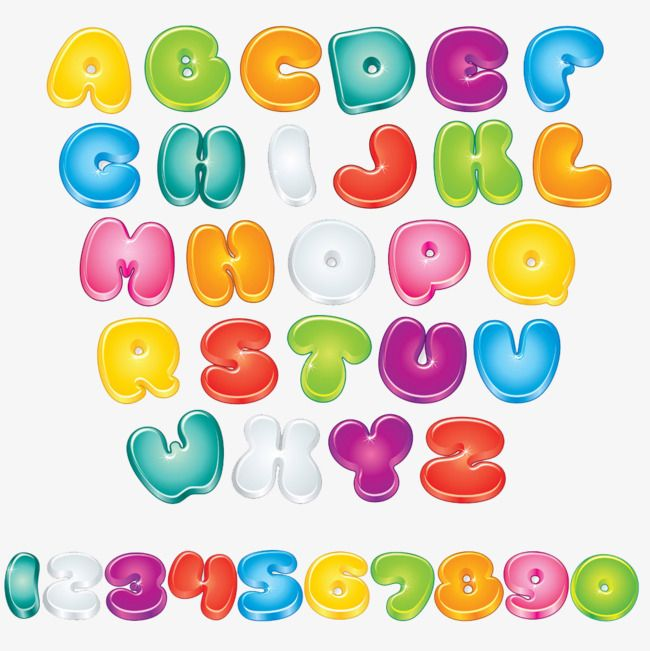 Cute Cartoon Alphabet Font Hd Buckle Material Cute Clipart