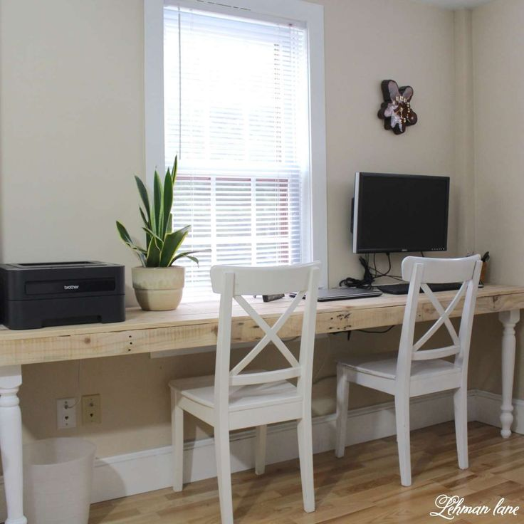 Our New Pallet Desk - Lehman Lane