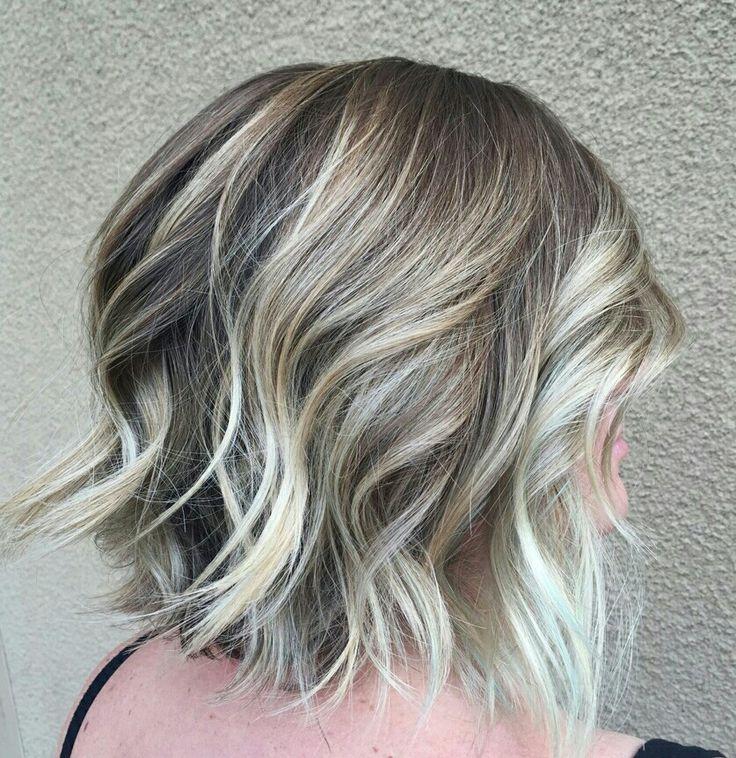 Balayage bob with beachy waves   Blonde   Pinterest