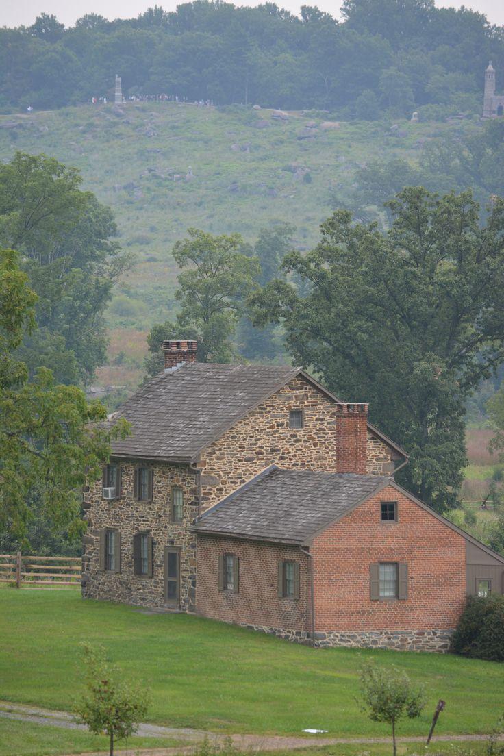 Gettysburg: Bushman House with Little Round Top behind, August 2013.