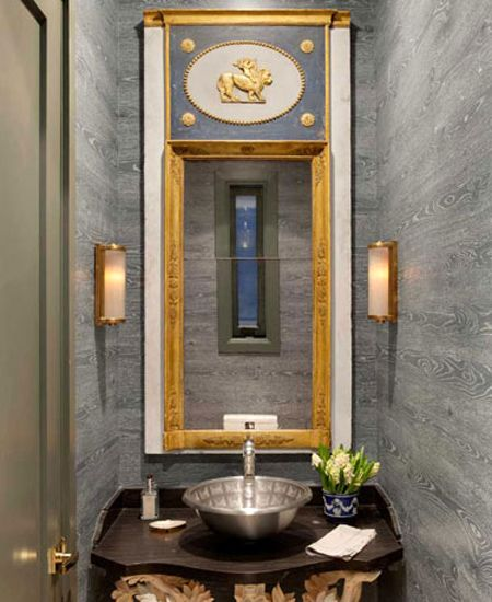 #faux bois #small bathroom
