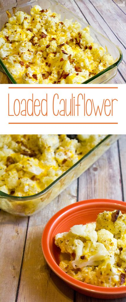 homemade loaded cauliflower