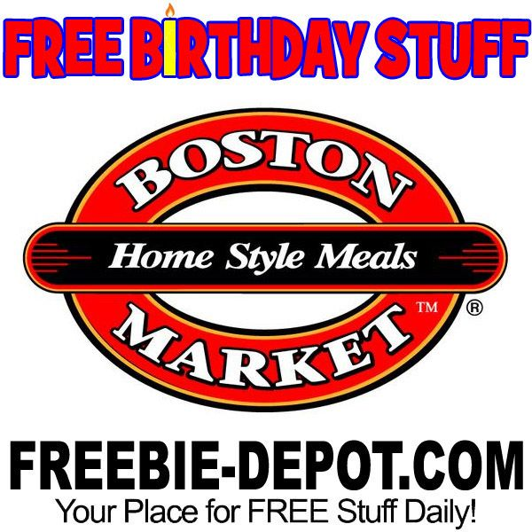 ►► BIRTHDAY FREEBIE - Boston Market ►► #BDay, #Birthday, #BirthdayFreebie, #BirthdayGift, #FreeBirthdayStuff, #FrugalFind, #FrugalLiving, #HappyBirthday ►► Freebie Depot