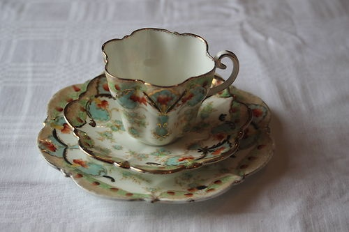 Vintage china cup, saucer and tea plate Victorian - old rare & unusual | eBay