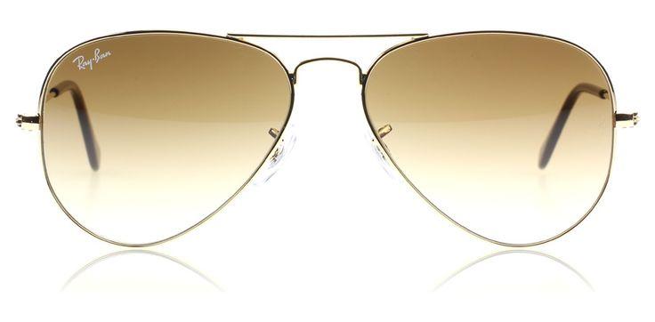 Small Ray-Ban 3025 Aviator Solbriller : 3025 Aviator Arista 001/51 Small 55mm : DK