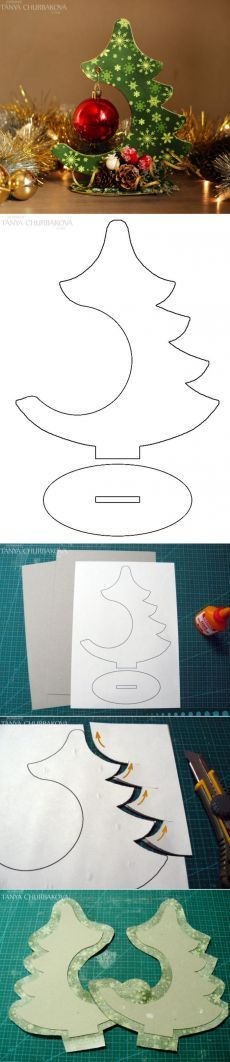 Cardboard Christmas Tree Ornament Hanger Display