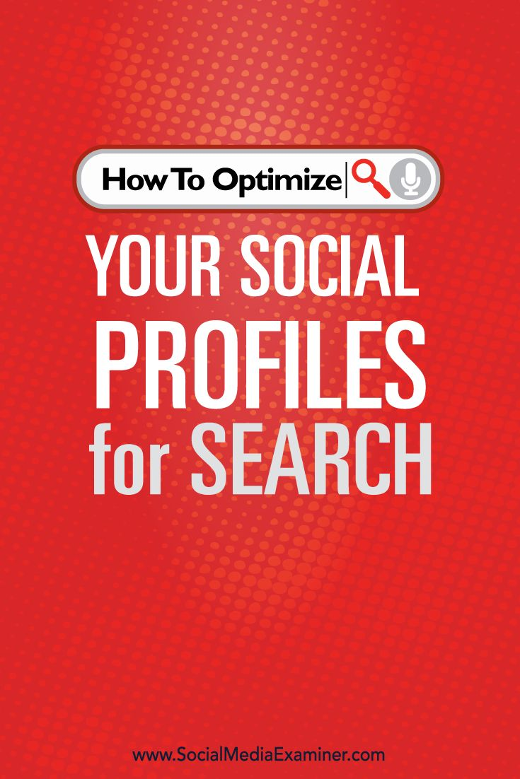 Learn how to keyword optimize your pages and profiles on Facebook, LinkedIn, Twitter, YouTube, Google+, Pinterest, and Instagram.