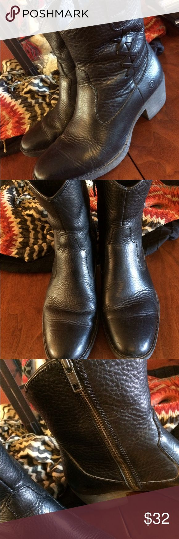 """BORN Boots Sz 7 1/2 BORN Boots. 8"""" shaft. Good condition. Born Shoes Ankle Boots & Booties"""