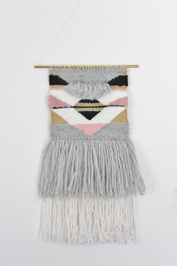 Handmade wall hanging // tissage fait main by scstudiofrance