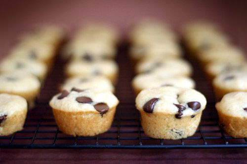 Mini chocolate chip pancake muffins by Bakerella, via Flickr.  Dip them in warm maple syrup! Yum!