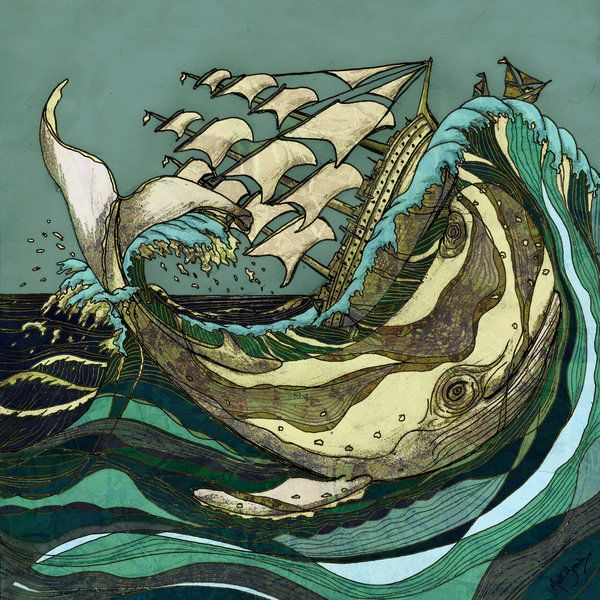 : Pirates Ships, Books Covers, Sea House, Matte Brown, Leviathan Strike, Covers Books, Whales Art, Moby Dick, Nautical Prints