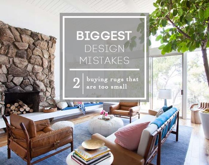 Gest Design Mistakes Ing Rugs That Are Too Small Roundup Emily Henderson Expert Advice