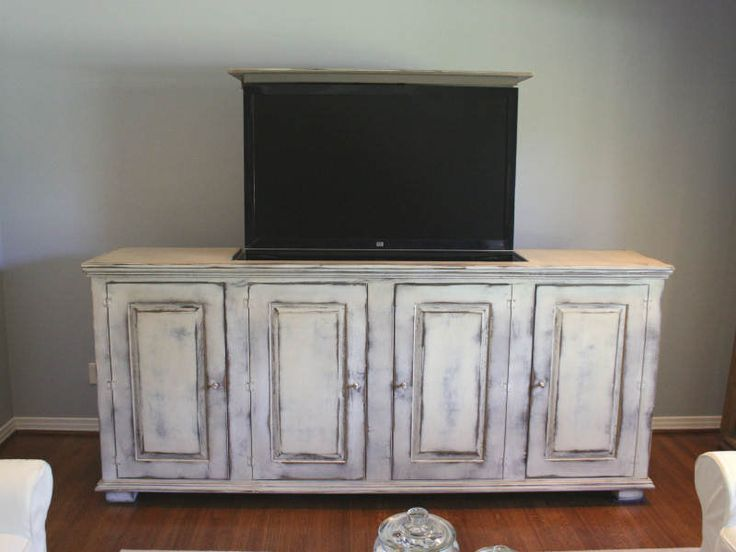 french country cottage chic tv lift cabinet handmade to order via etsy