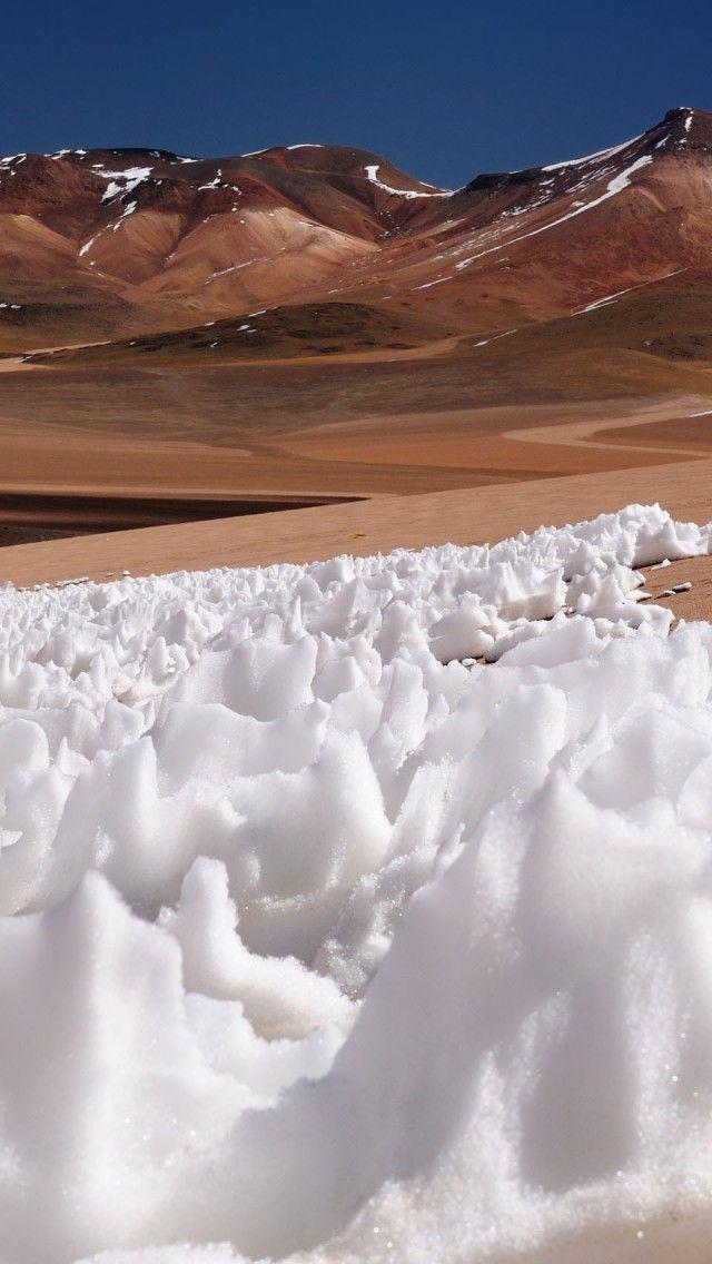 Bolivia Desert, The Surreal Eduardo Avaroa National Park iPhone 5 wallpapers, backgrounds, 640 x 1136