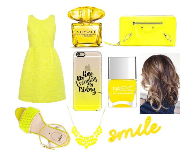 """Smile"" by jhananym on Polyvore featuring Paul & Joe Sister, Fendi, Balenciaga, Nails Inc., Versace and Casetify"